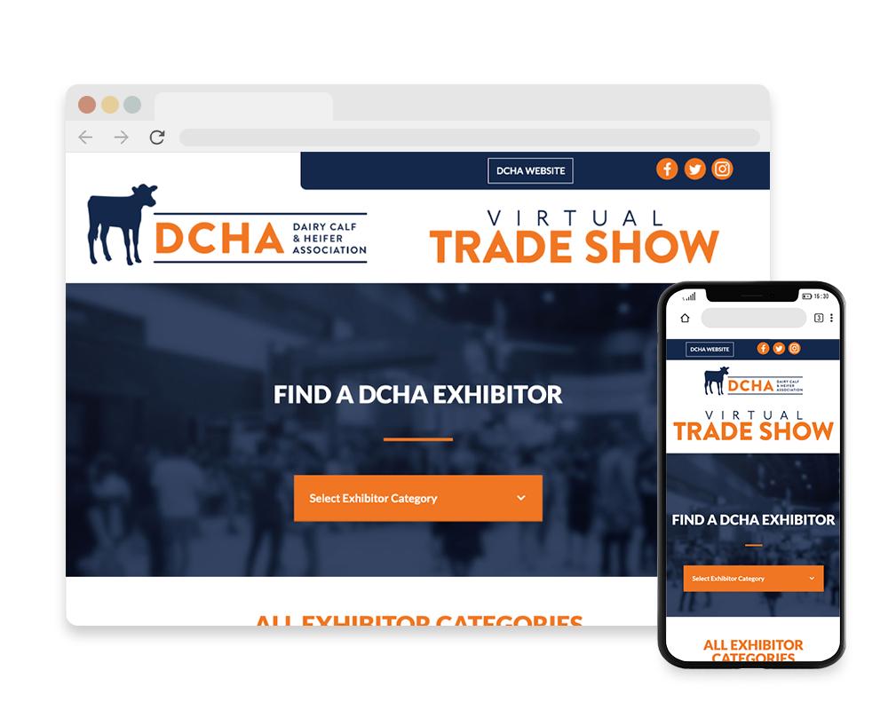 DCHA Tradeshow Website Mockup